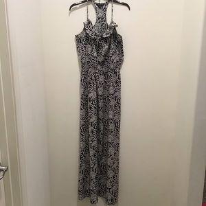 Banana republic maxi dress, medium,black and white